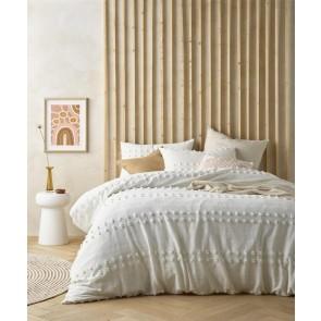 Natural Sans Sovci 100% Cotton Quilt Cover Set by Vintage Design