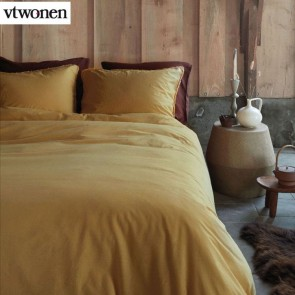 Natural Stone Fraying Yellow Quilt Cover Set by VTWonen
