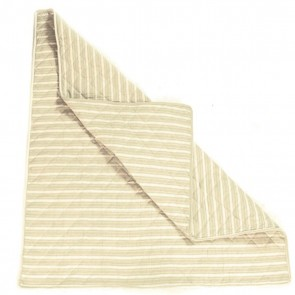 Natural Multi-Stripe Wigwam Floor Quilt by Petit