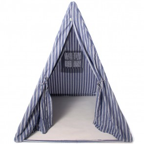 Navy Multi-Stripe Wigwam Set by Petit