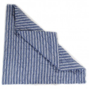 Navy Multi-Stripe Wigwam Floor Quilt by Petit