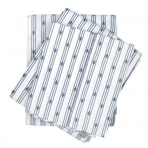 Arrow Stripe Single Navy Sheet Set by Scout