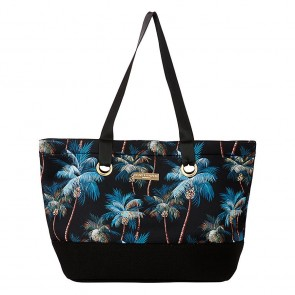Neoprene Beach Bag Palm Trees Black by Escape To Paradise