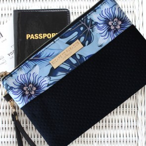 Neoprene Clutch Bag Blue Lagoon by Escape to Paradise