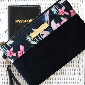 Neoprene Clutch Bag Tahitian Sunset by Escape to Paradise