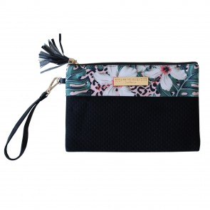 Neoprene Clutch Bag Tropical Jungle by Escape to Paradise