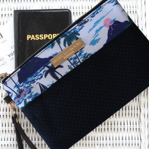 Neoprene Clutch Bag Vacation by Escape to Paradise