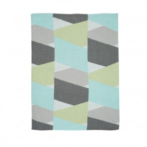 New Zig Zag Aqua Grey Blanket by Scout