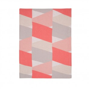 New Zig Zag Pink Grey Blanket by Scout