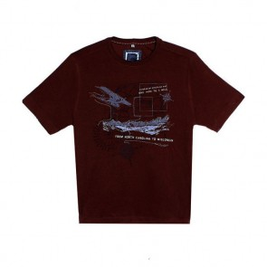Next Embroidered Map Red T-Shirt