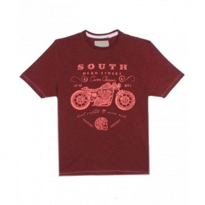 Next UK Crimson Color Round Neck T-Shirt
