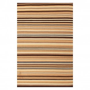 Nomadic Charm Indian Stripe Kilim Rug by Rug Culture