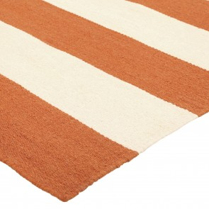 Nomadic Charm Orange Stripe Rug by Rug Culture