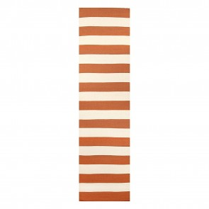 Nomadic Charm Stripe Orange Runner Rug