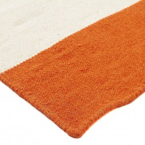 Nomadic Charm Stripe Orange Runner Rug by Rug Culture