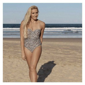 One Piece Balconette With Belt Leopard Small by Escape To Paradise