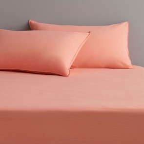 Onslo Coral Glow Fitted Sheet Set by Sheridan
