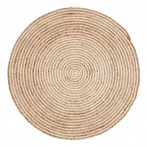 Plumeria Round Jute Rug by FAB Rugs