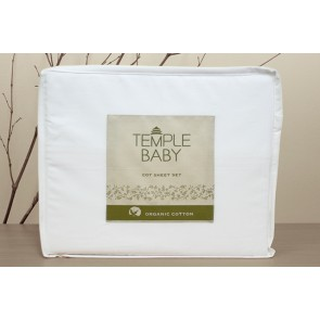 Temple Baby Organic Cotton Cot Sheet Set by Bambury
