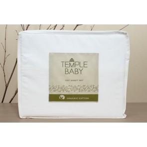 Temple Baby Organic Cotton Cot Sheet Set by Bambury