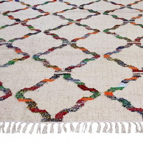 Oscuro Flat Weave Jute & Cotton Rug by Veeraa