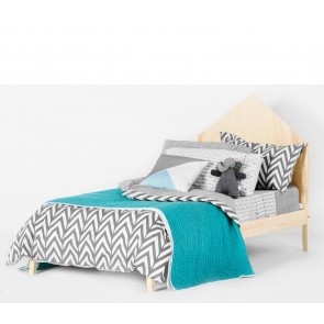 Oslo Grey KS/Double Quilt Cover Set by Scout