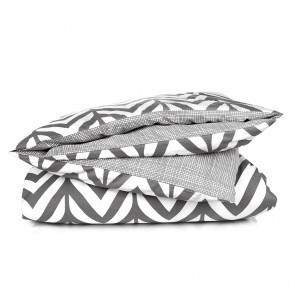 Oslo Grey Quilt Cover Set by Scout