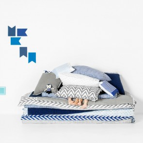 Oslo Navy Quilt Cover Set by Scout