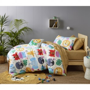 Our Planet in the Dark Quilt Cover Set by Happy Kids