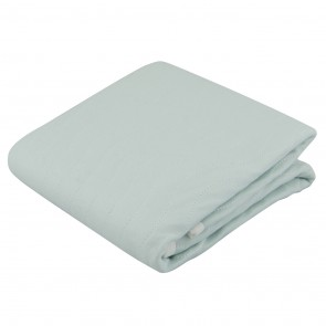Pale Blue Single Bed Waterproof Mattress Protector by Silly Billyz