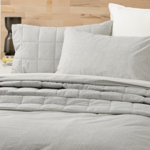 King Paradis washed Chambray Quilt Cover set by Park Avenue