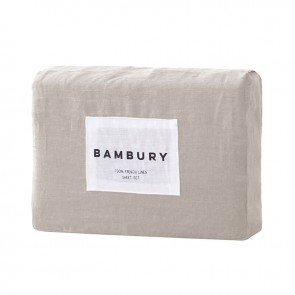 French Linen Queen Sheet Set by Bambury