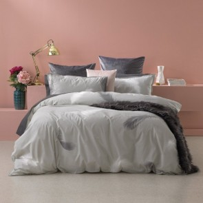 Penna Silver Super King Quilt Cover Set by Bianca