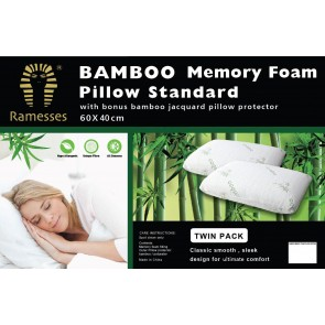 Twin Pack Bamboo Pillow