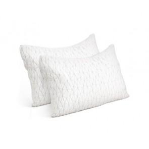 Set of 2 Rayon Single Memory Foam Pillow by Giselle Beddin