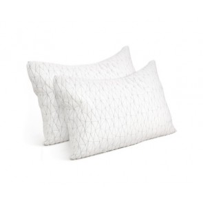 Set of 2 Rayon King Memory Foam Pillow by Giselle Bedding