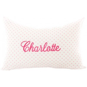 Embroidered Name Cushion by Lullaby Linen