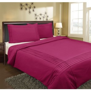 Pin Tuck Double Quilt Cover Set by Kingtex