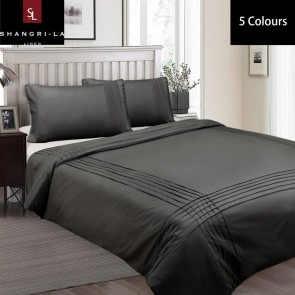 Pintuck Single Linen Classic Quilt Cover Set by Shangri-La