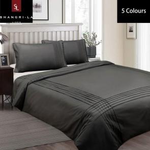 Pintuck Queen Linen Classic Quilt Cover Set by Shangri-La