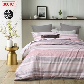 Pitaya Pink Jacquard Quilt Cover Set by Accessorize
