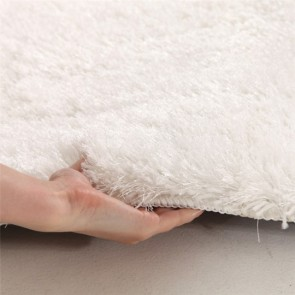 Plush Luxury Shag Rug in Crisp White by Unitex