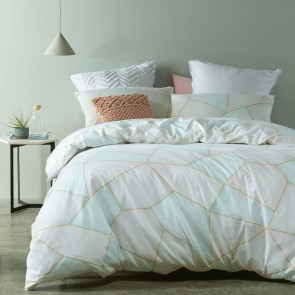 Hexagon Printed Double Quilt Cover Set by Accessorize