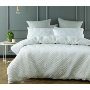 Cushla Quilt Cover Set by Phase 2 WHITE