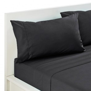 225 Thread Count Parcale Cotton Polyester Double Fitted Sheet Set by Kingdom