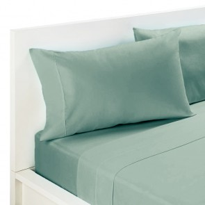 225 Thread Count Parcale Cotton Polyester Double Flat Sheet Set by Kingdom