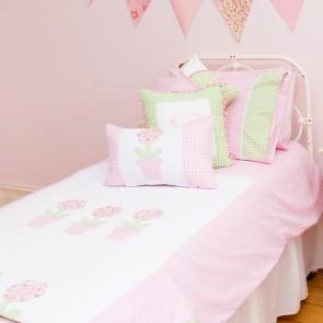 Flowerpot Single Quilt Cover Set by Lullaby Linen