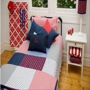 Stars & Stripes Single Quilt Cover Set by Lullaby Linen