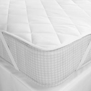 Quilted Queen Mattress Protector With Straps by Abercrombie & Ferguson