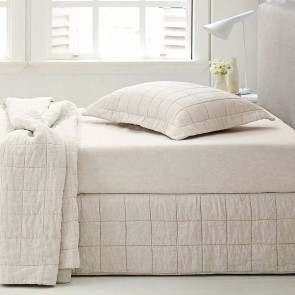 Abbotson Linen Quilted Bed Skirt by Sheridan